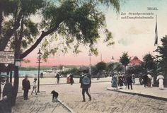 Tegel, Zur Strandpromenade und Dampferhaltestelle 18.11.1912