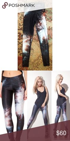 BlackMilk Galaxy Black Leggings Size Small BlackMilk leggings size small bought in 2011, worn once. Feature a nasa pic of the Orion Nebula. Search for hashtag galaxyblacklegs for pics by customers. Blackmilk Pants Leggings