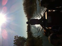 Empezando el paseo en barca