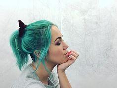 The week before midterms  #selfie #manicpanic #greenhair #greenenvy #turquoisehair #mermaid #tattooedgirls #morphebrushes #makeup #artist #studio #todolist