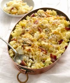 Perfect Italiano Cauliflower, Pancetta and Pangratto Macaroni Bake