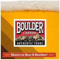 Beer and Boulder Canyon - it's a right not a privilege! #craftbeer #chips #snacks