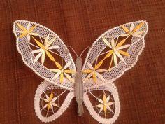 Dekorácie - žlty motyl - 3539321