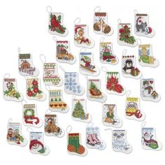 more tiny stockings cross stitch kit needlework stocking ornaments cross stitch kits counted