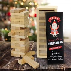 What better to surprise yoru friends and family this Christmas than a gift that everyone can play together! The Popular Jenga game is a great gift idea to present to your loved ones on Christmas, and it has the extra special touch of being profesionally printed with your personalised details.