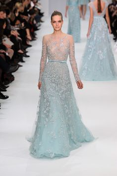 Elie Saab Spring 2012 Couture Collection on We Heart It Beautiful Gowns, Beautiful Outfits, Gorgeous Dress, Couture Dresses, Fashion Dresses, Couture Fashion, Fashion Show, Elie Saab Dresses, Evening Dresses