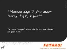 Ad 8 in self-created campaign in FATAAQ series, this time for street dogs...