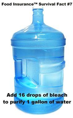Remember 1 gallon of water per person per day