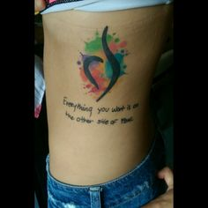 Eating disorder recovery tattoo with quote #eatingdisorder #recovery #quote…