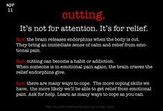 Cutting. Self Harm Awareness Day.