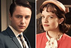 Pete & Peggy from Mad Men.