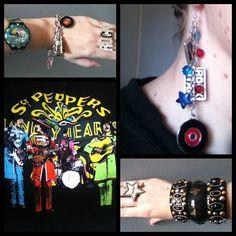The Beatles tshirt from a music shop, Jewel Divas music jewellery