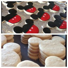 make your own mickey mouse cookies