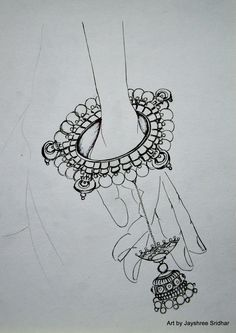 Super jewerly fashion illustration sketch design ideas - Image 5 of 24 Fashion Illustration Sketches, Jewelry Illustration, Art Drawings Sketches, Fashion Sketches, Abstract Drawings, Jewelry Design Drawing, Fashion Design Drawings, Drawing Fashion, Dancing Drawings