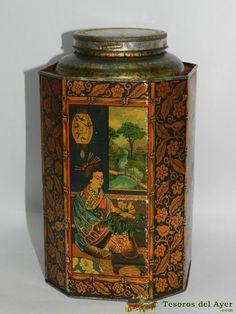 Portugese litho tea tin