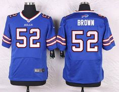 Buffalo Bills #52 Preston Brown Royal Blue Team Color NFL Nike Elite Men's Jersey