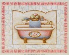 Imágenes decoupage baño carta da stampare pinterest bagno