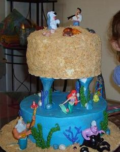My 20th birthday cake i want this!! love the little mermaid!!