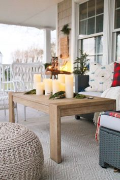 Holiday Housewalk: Woodland Inspired Front Porch With Balsam Hill
