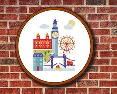 Cross Stitch Pattern London Digital PDF/JPG Instant от Pattaporn