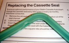 Replacing the Cassette Seal with a new green Statim seal