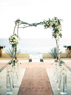 Photography: Ashley Bosnick Photography - ashleybosnick.com Ceremony Venue: The Resort At Pedregal - www.theresortatpedregal.com/weddings Wedding Planning + Design: Elena Damy Floral Design - elenadamy.com   Read More on SMP: http://www.stylemepretty.com/2016/03/28//