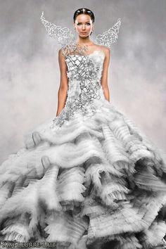 Hunger games inspired wedding dress