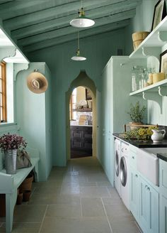 Mediterranean Laundry Room Southern Living Idea House laundry room