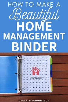 How to make a practical home management binder that simplifies your to-do list. A must-have home management tool for every household. #organizingmoms