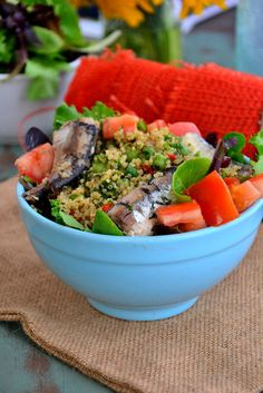 Need a Recipe for Tonight? Try This Springtime Salad.   Sardines are low mercury and high in omega 3s!!