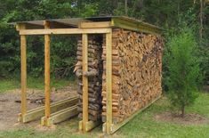 Furniture, Simple Outdoor Firewood Pallet Log Rack Stand With Roof Ideas: Varied Kinds of Firewood Rack for You to Get and Use