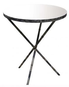 Coos Mirror Side Table.  Outdoor area