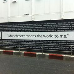 """""""Manchester means the world to me."""" Always and forever. Manchester Street, Manchester Art, Manchester England, Oasis Live, I Love Mcr, Peel Sessions, Places In England, Salford, Britpop"""