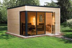 Incredible and cozy backyard studio shed design ideas Backyard Office, Cozy Backyard, Backyard Studio, Backyard Sheds, Outdoor Sheds, Garden Office, Backyard Cottage, Garden Studio, Garden Sheds