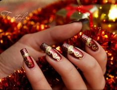 Naildesigstumblr christmas nail art design ideas nail 25 cool christmas nail designs prinsesfo Choice Image