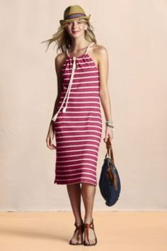 Women's French Terry Nautical Dress  from Lands' End Canvas