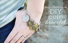DIY Coin Bracelet- great travel souvenir! Great tutorial from Darling Doodles Design. Can't wait to try this out!