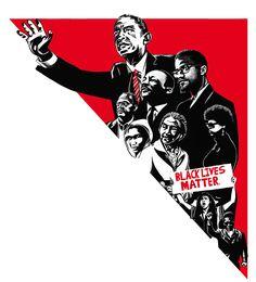 Equal Rights History, for Die Zeit @ Ivan Canu, #civilrights #Obama #MalcolmX #King #Parks #Trayvon #Blacklivesmatter #Blackpanthers #editorial #portraits #black&white #ivancanu salzmanart.com