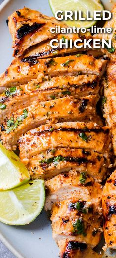 Everything about this marinade is good! Cilantro lime chicken marinade is perfect for chicken breast or chicken thighs. Easy, excellent grilled chicken recipe! Lime Chicken Recipes, Cilantro Lime Chicken, Grilling Recipes, Beef Recipes, Cooking Recipes, Recipies, Kitchen Recipes, So Little Time, Dinner Recipes
