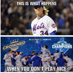 Kansas City Royals beat the NY Mets 7-2 in game 5 of the World Series!