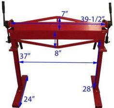 36 Brake Bender With Stand Sheet Metal Bending Plate Bender 12 Gauge in Business & Industrial, Manufacturing & Metalworking, Metalworking Tooling