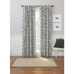 For the Upstairs Dining/Living Rooms- Better Homes and Gardens Marissa Curtain Panel Printed Curtains, Red Curtains, Panel Curtains, Rustic Curtains, Brown Accent Wall, Window Panels, Better Homes And Gardens, Window Treatments, New Homes