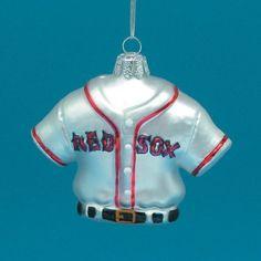 Major League Baseball Kurt Adler Glass Red Sox Jersey Ornament