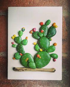 13 Likes, 3 Kommentare - Anna Adam . Cactus Painting, Plant Painting, Stone Painting, Paper Cactus, Cactus Craft, Cactus Cactus, Indoor Cactus, Rock Painting Patterns, Rock Painting Designs