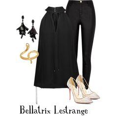 Designer Clothes, Shoes & Bags for Women Bellatrix Lestrange, Madina, Haute Hippie, River Island, Christian Louboutin, Harry Potter, Shoe Bag, Polyvore, Stuff To Buy