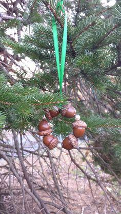 Holiday Shipping: 1 Dollar Handmade Circle of Acorns by DVRSNS