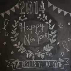 Chalkboard New Year's Design on Chuzai Living