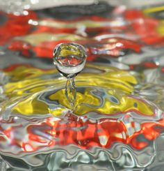 water splash A photographic image