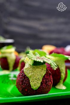 Easy to make delicious Roast Beetroot Falafels are packed with healthy goodness of Middle Eastern flavors. Green Tahini Dip is bonus with this recipe video. Veggie Recipes, Whole Food Recipes, Cooking Recipes, Kosher Recipes, Falafels, Vegan Vegetarian, Vegetarian Recipes, Vegan Beet Recipes, Vegan Food