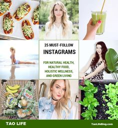 See our top 25 Instagram accounts for natural health, healthy food, holistic wellness and green living. #blogs #bloggers #instagram #naturalmedicine #greenliving